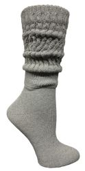 60 pairs of Yacht & Smith Womens Heavy Cotton Slouch Socks, Solid Heather Gray