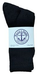 72 pairs of Yacht & Smith Women's Cotton Crew Socks Black Size 9-11 Bulk Pack