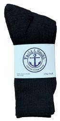 240 pairs of Yacht & Smith Women's Cotton Crew Socks Black Size 9-11 Bulk Pack