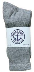 60 pairs of Yacht & Smith Women's Cotton Crew Socks Gray Size 9-11 Bulk Pack