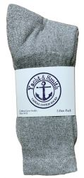 120 pairs of Yacht & Smith Women's Cotton Crew Socks Gray Size 9-11 Bulk Pack