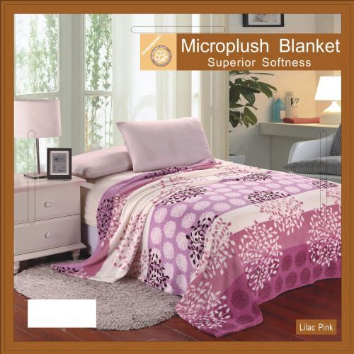 12 pieces of Flower Print Blankets Twin Size Lilac Pink