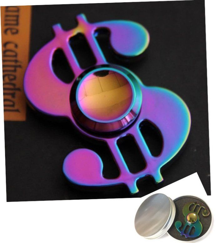 24 Pack Of Fidget Spinner Rainbow Metal