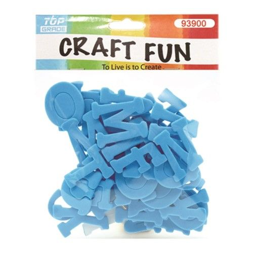 96 pieces of Craft Fun Baby Blue Letters