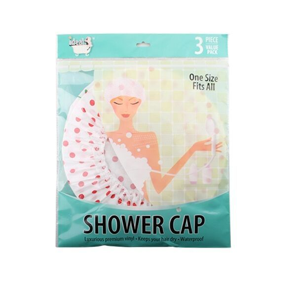 96 pieces of 3 Pack Shower Cap
