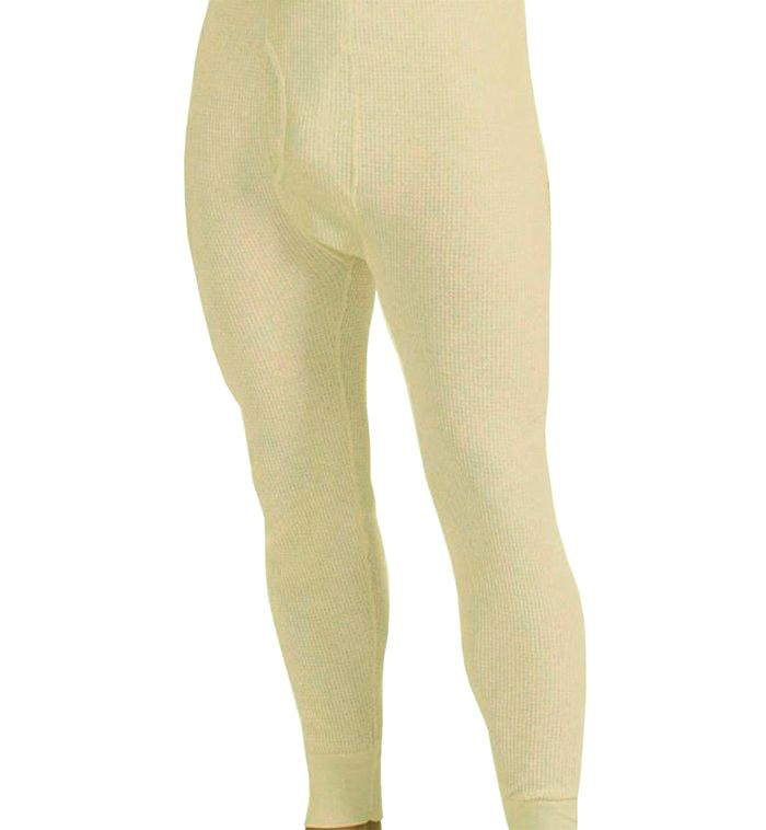 60 pieces of Men's Natural Color Thermal Underwear Bottoms, Size Large