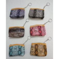 36 Pack of Zippered Coin Purse [Snakeskin]