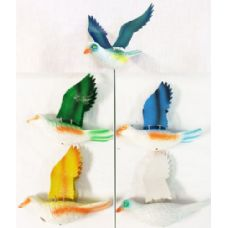 Garden Stake Decoration Dove Piegon Assorted Colors (Case 36)