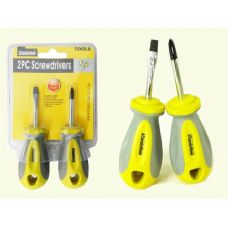 "SCREWDRIVERS 2PC 1.5"" YELLOW+G (Case 96)"