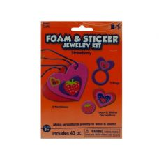 Wholesale Strawberry Foam and Sticker Jewelry Kit (Case 108)