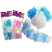 BATH SPONGE SET 4PCS15G/BALL+ONE LONG SPONGE (Case 72)
